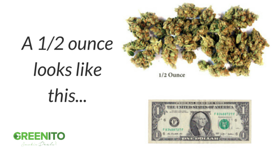 How much is a 1/2 oz of weed find out at Greenito