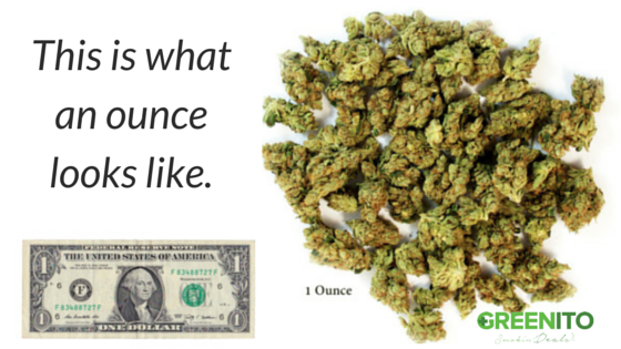 How much is an ounce of weed find out at Greenito