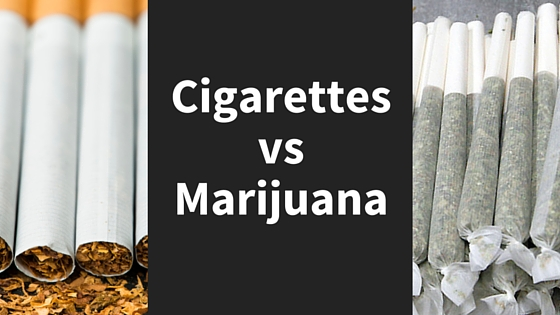 cigarettes vs . weed