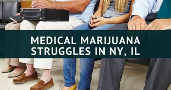 MEDICAL MARIJUANA STRUGGLES IN NY, IL
